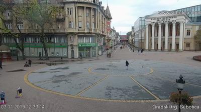 Gradski trg u Subotici - Serbia