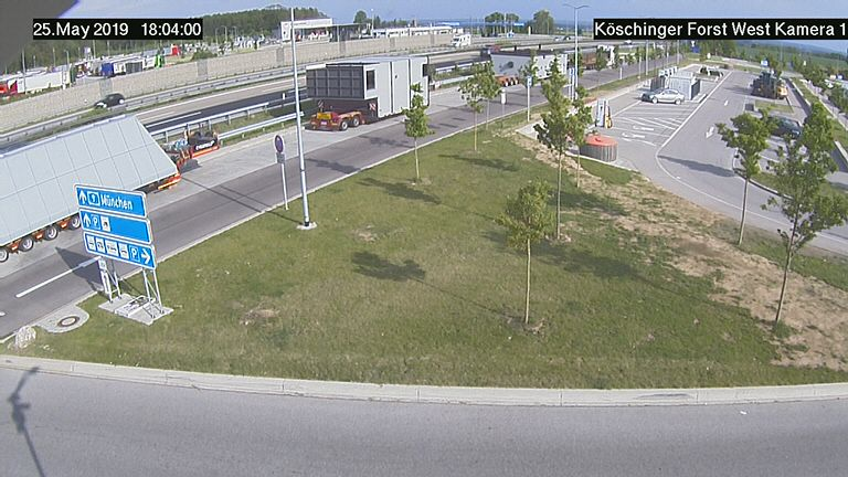 A9 Köschinger Forst West - FR München - BlickrichtungSüd-Osten, km 450 - Germany