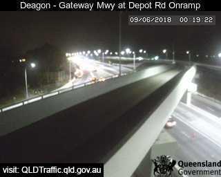 Deagon - Gateway Mwy at Depot Rd On-Ramp - North - North - Sandgate - Brisbane City - Metropolitan - Australia