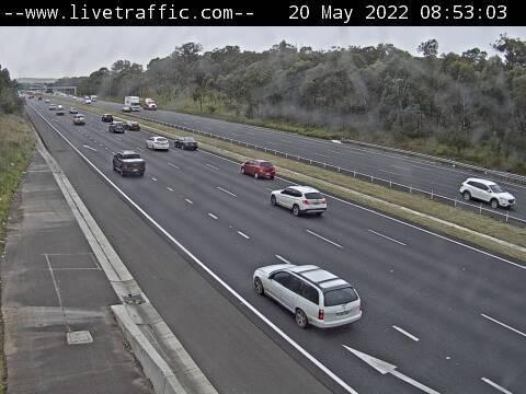 M4 Western Motorway (Minchinbury) - M4 Western Motorway at Wallgrove Road looking east towards Eastern Creek. - E - SYD_WEST - Australia