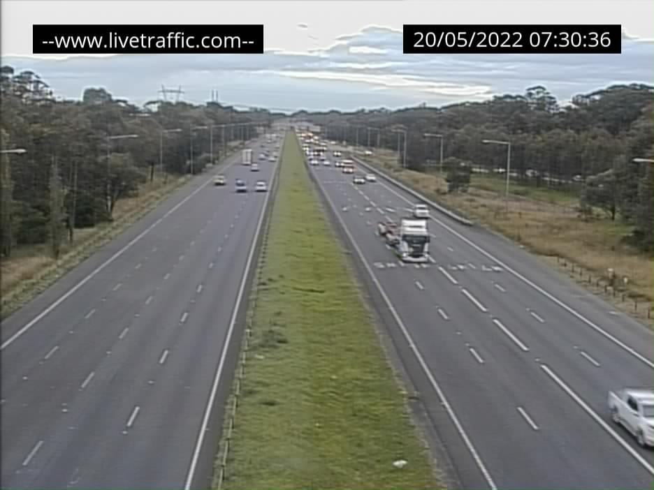 M5 / M7 - Junction of M5 and M7 looking south towards Ingleburn. - S - SYD_SOUTH - Australia