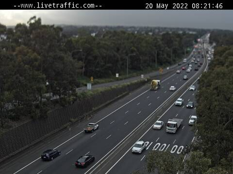 M5 (Liverpool) - M5 at Hume Highway looking east towards Sydney. - E - SYD_SOUTH - Australia