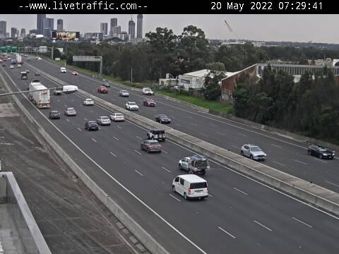 M4 Western Motorway (Auburn) - M4 Western Motorway at Auburn looking west towards St Marys. - W - SYD_WEST - Australia