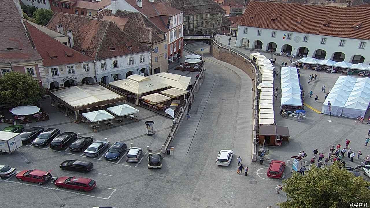 Sibiu-Piața Mică şi Podul Minciunilor - Romania