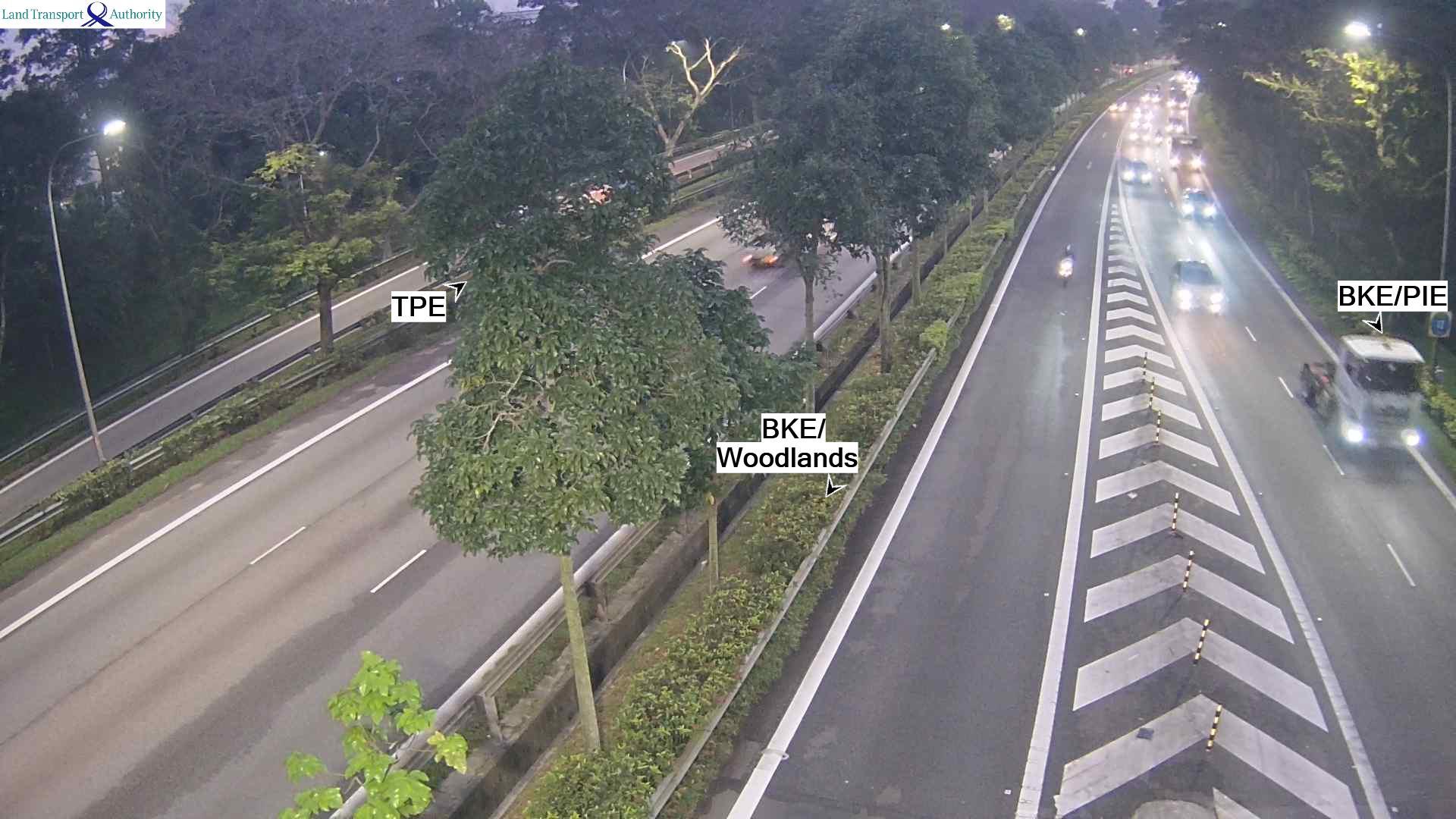 View from SLE(BKE) Exit - Seletar Expressway (SLE) - Singapore
