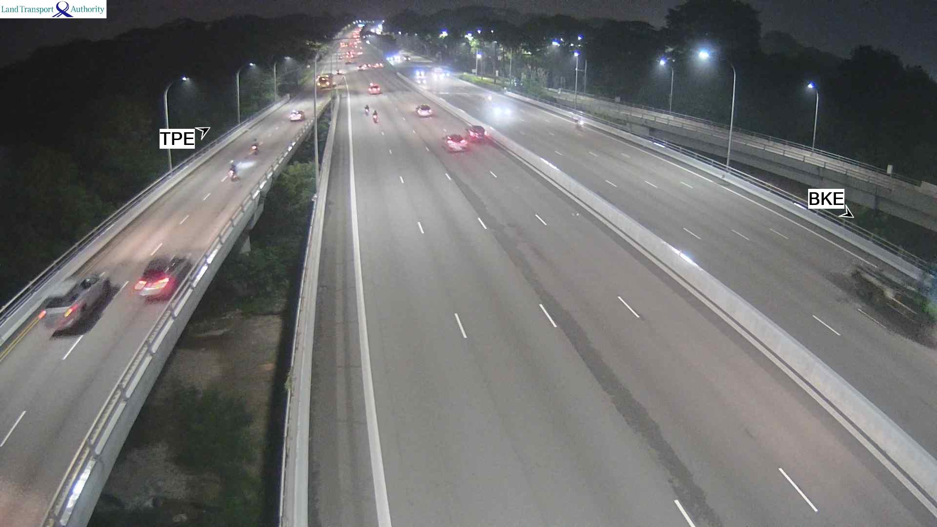 View from Lentor Flyover - Seletar Expressway (SLE) - Singapore