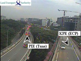 View from Kallang Way Flyover - Kallang-Paya Lebar Expressway (KPE) - Singapore