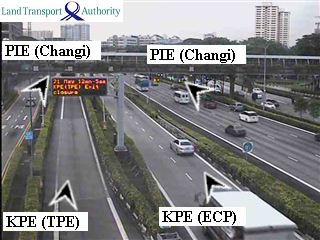 View from KPE/PIE - Kallang-Paya Lebar Expressway (KPE) - Singapore