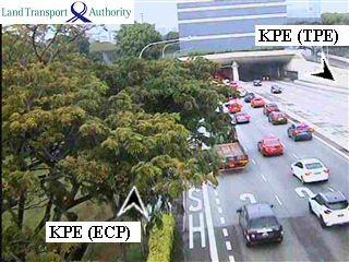 View from Tampines Flyover - Kallang-Paya Lebar Expressway (KPE) - Singapore