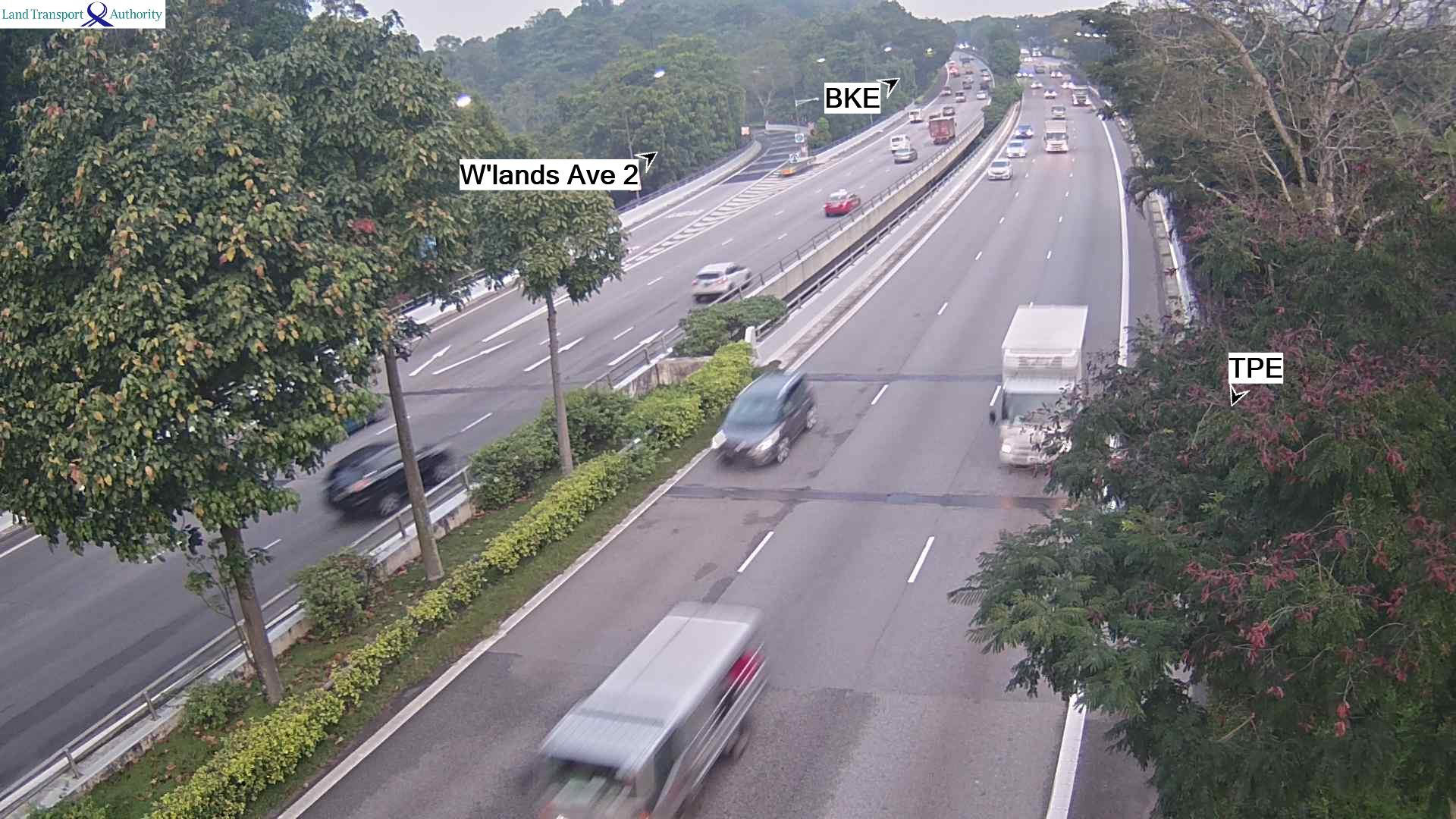 View from Marsiling Flyover - Seletar Expressway (SLE) - Singapore