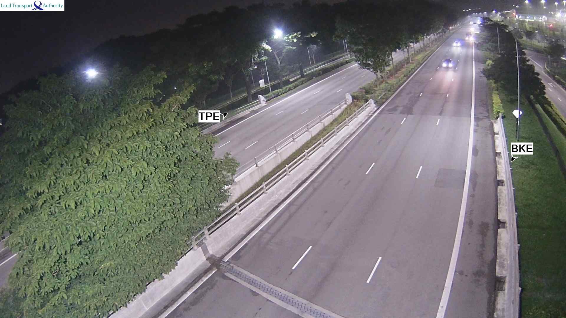 View from Ulu Sembawang Flyover - Seletar Expressway (SLE) - Singapore