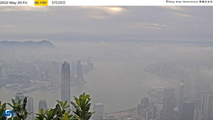 Victoria Peak (looking towards the east) - Hong Kong