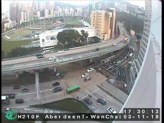 Aberdeen Tunnel - Wan Chai Side - Hong Kong