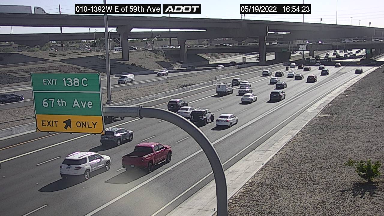 E of 59th Ave WB (I10) (005) - Phoenix and Arizona