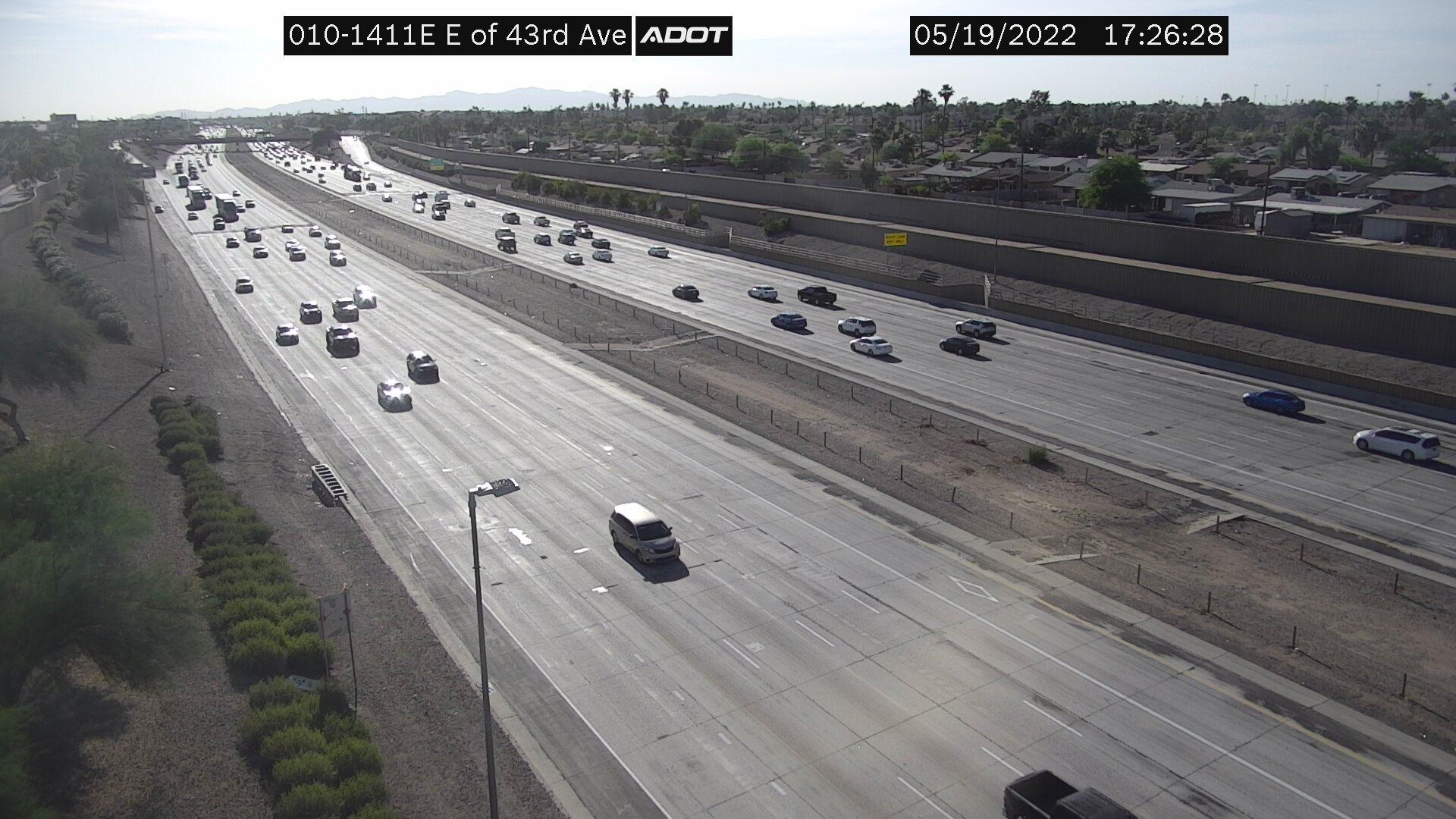 E of 43rd Ave EB (I10) (007) - Phoenix and Arizona