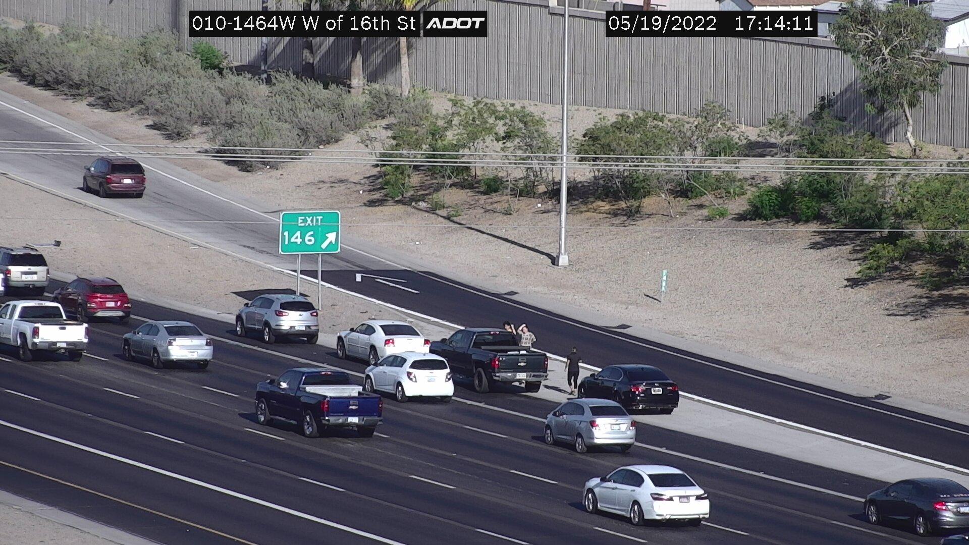 W of 16th St WB (I10) (021) - Phoenix and Arizona