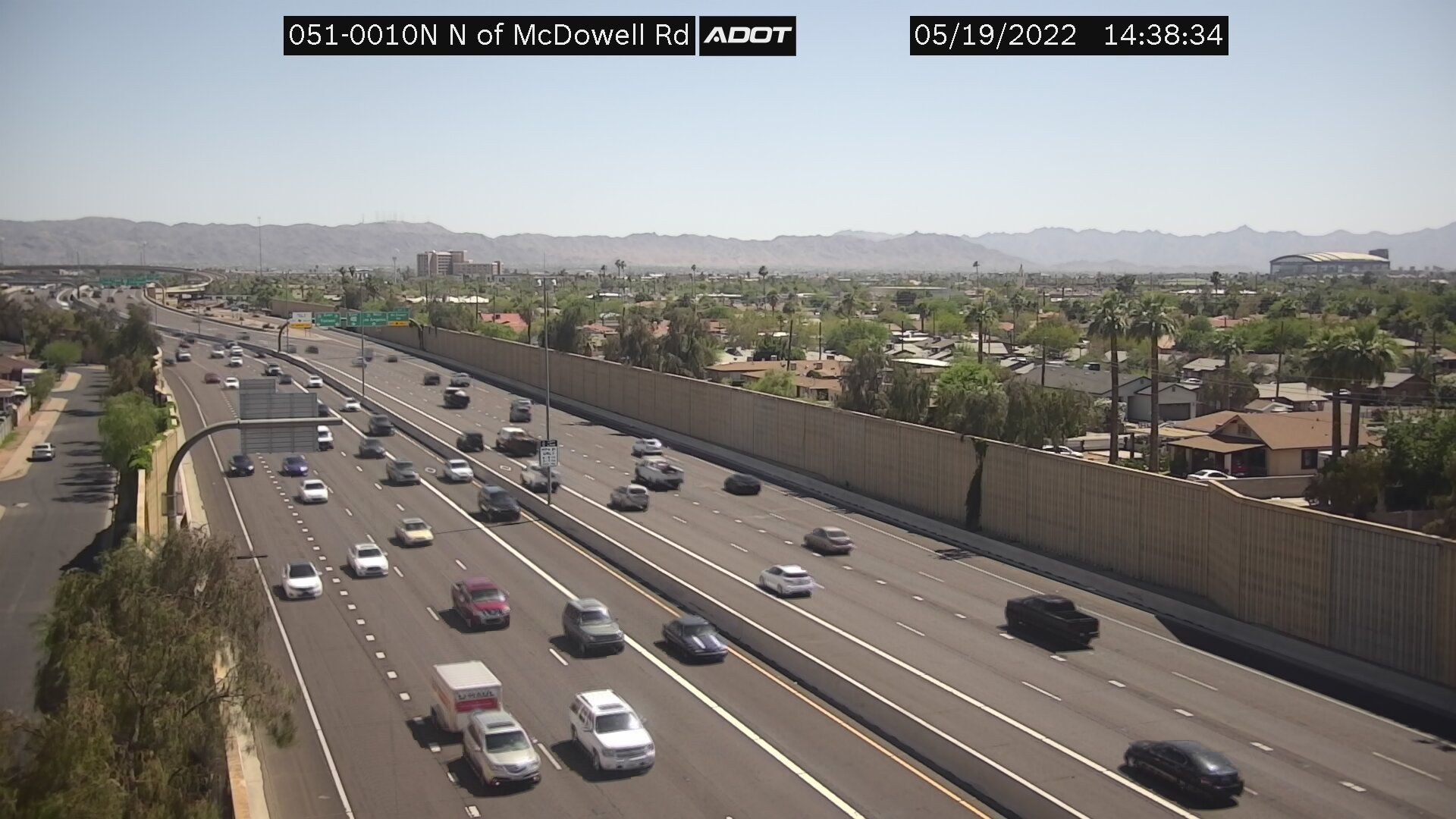 N of McDowell NB (SR51) (075) - Phoenix and Arizona