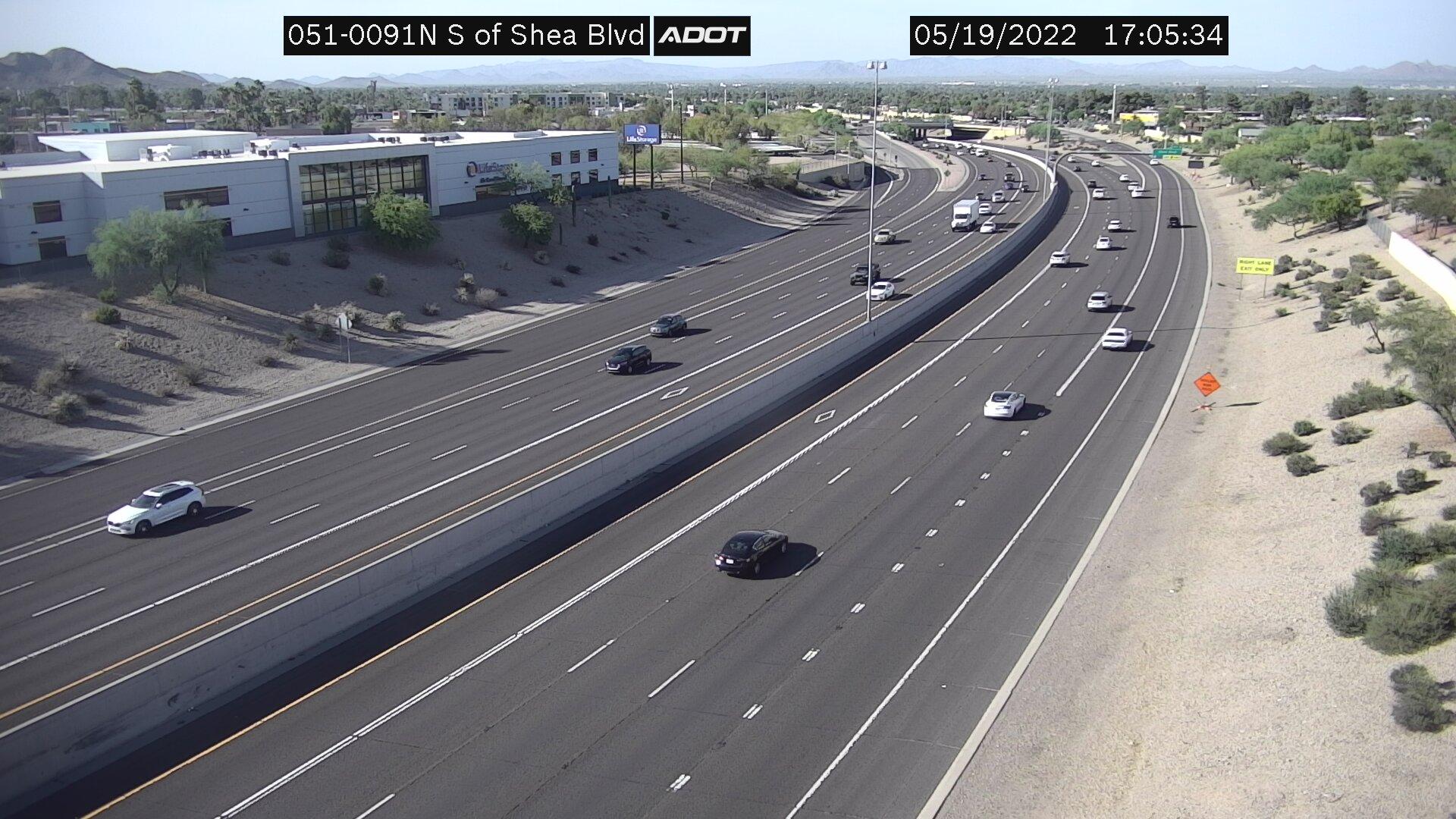 S of Shea NB (SR51) (085) - Phoenix and Arizona