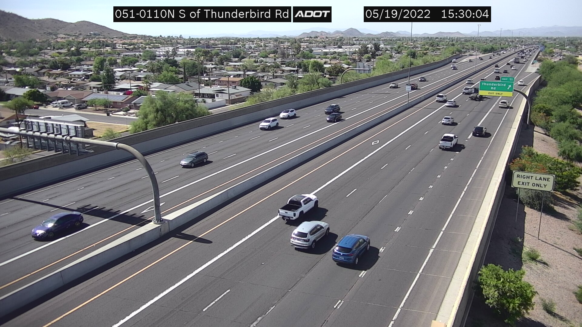 S of Thunderbird NB (SR51) (087) - Phoenix and Arizona