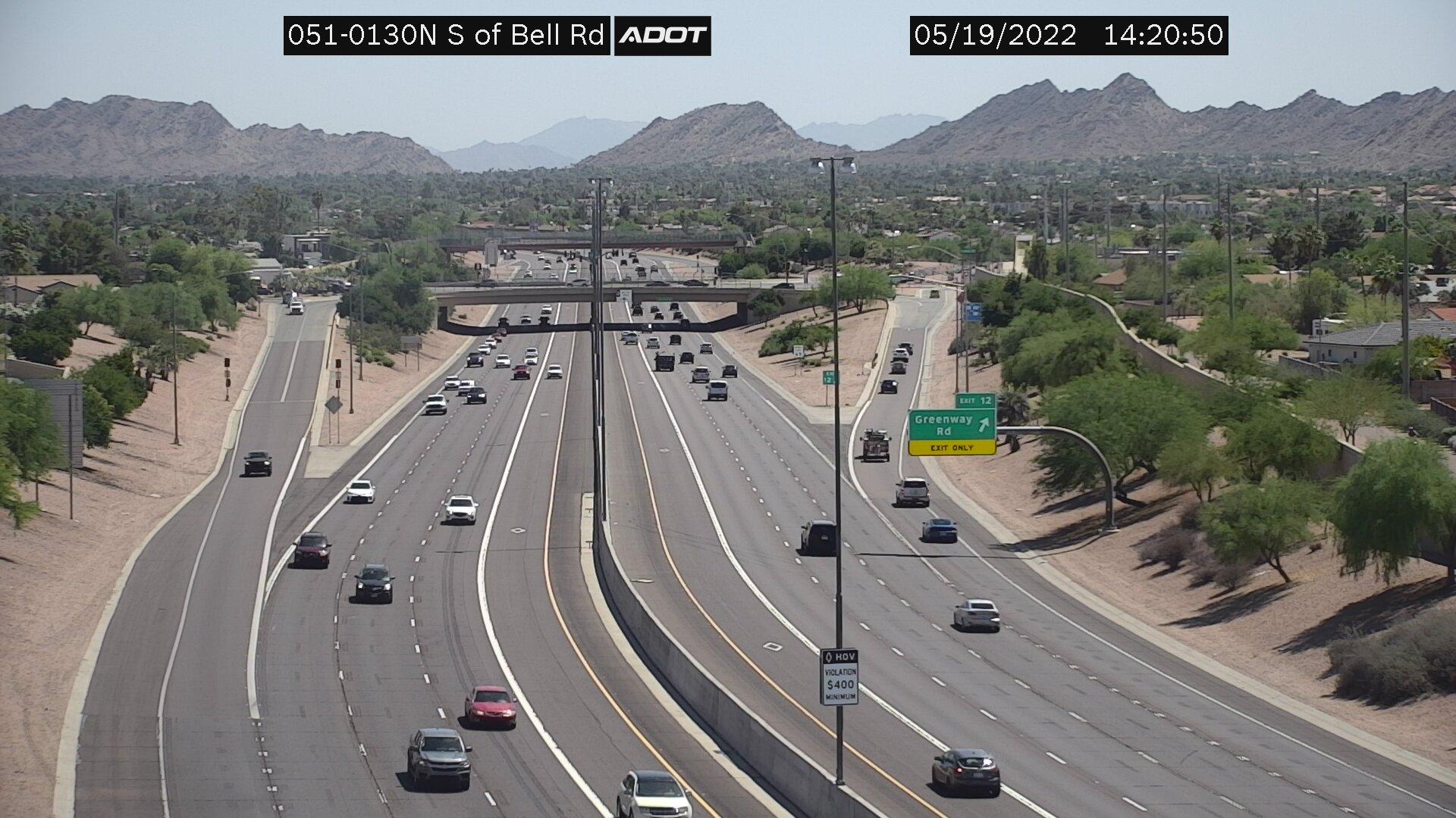 S of Bell NB (SR51) (089) - Phoenix and Arizona