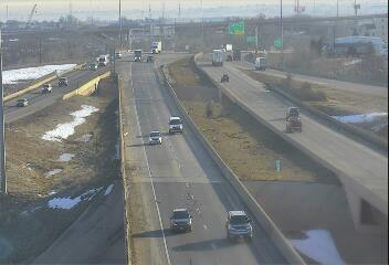 I-76 - I-76  005.75 WB @ I-25 - Traffic in lanes farthest from camera moving East - (10067) - Denver and Colorado