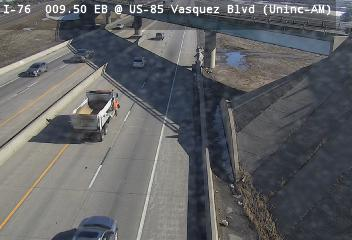 I-76 - I-76  9.50 EB : 1.4 mi E of 74th Ave - Traffic closest to camera is travelling East - (13912) - Denver and Colorado