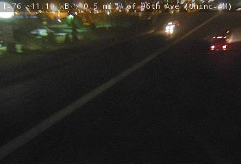 I-76 - I-76 11.05 WB : 0.5 mi W of 96th Ave - Traffic closest to camera is travelling West - (13915) - Denver and Colorado