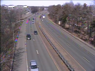 CAM 119 East Hartford RT 2 EB W/O Exit 5A - Ensign St. (Traffic closest to the camera is traveling EAST) - USA