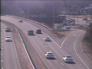CAM 121 East Hartford RT 2 WB Exit 5A - Main St. (Traffic closest to the camera is traveling WEST) - USA