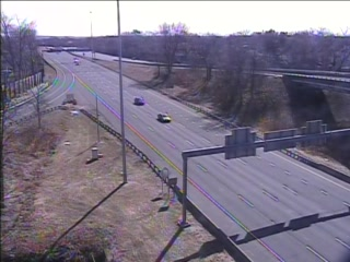CAM 20 East Hartford I-84 WB Exit 56 - Governor St. (Traffic closest to the camera is traveling WEST) - USA