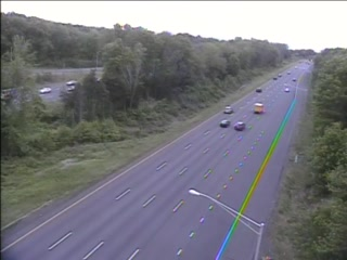 CAM 103 Rocky Hill I-91 NB Exit 23 - West St. (Traffic closest to the camera is traveling NORTH) - USA