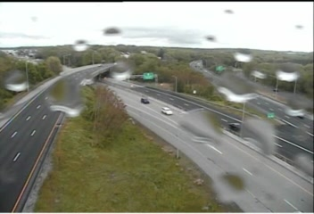 CAM 200 Groton I-95 SB Exit 86 - Rt. 184 & 12 (Long Hill Rd.) (Traffic closest to the camera is traveling SOUTH) - USA