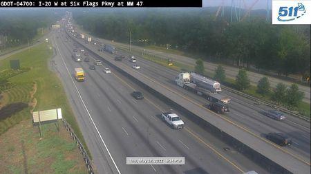 I-20 : GA VISITOR CTR / SC LINE (W) (13075) - Atlanta and Georgia