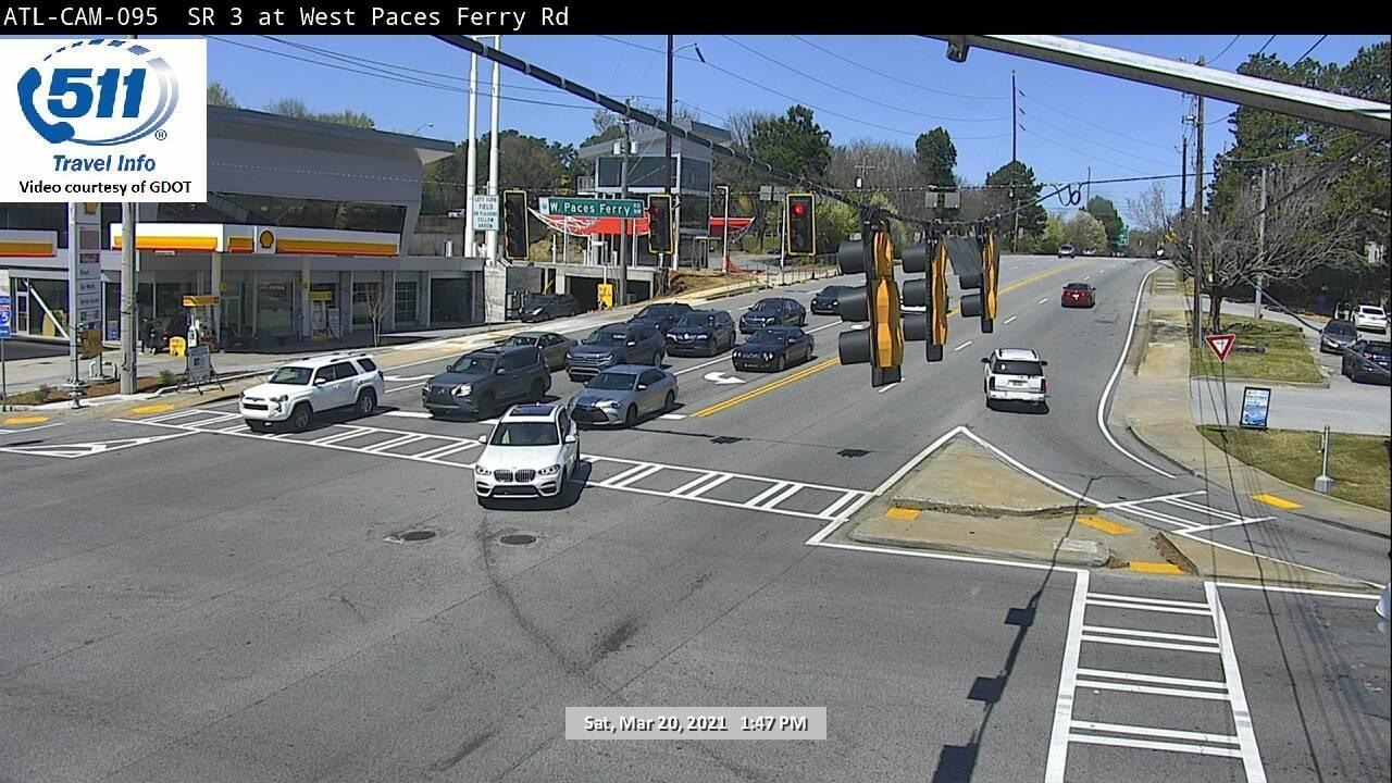 SR 3 / Northside Pkwy : W Paces Ferry Rd (N) (9335) - Atlanta and Georgia