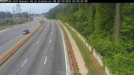 I-285 : CD LANES - NO TRAFFIC (E) (5256) - Atlanta and