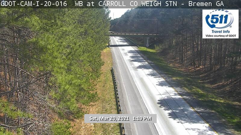 I-20 : CARROLL CO WEIGH STATION (W) (13192) - Atlanta and Georgia