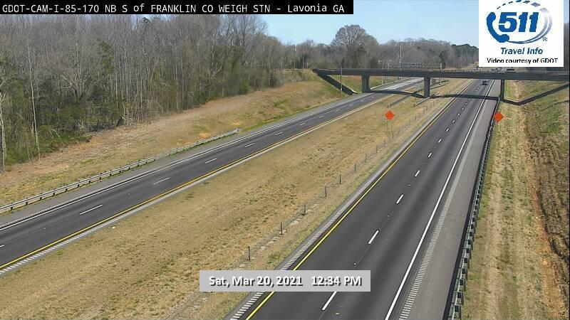 I-85 : FRANKLIN CO WEIGH STATION (N) (15165) - Atlanta and Georgia