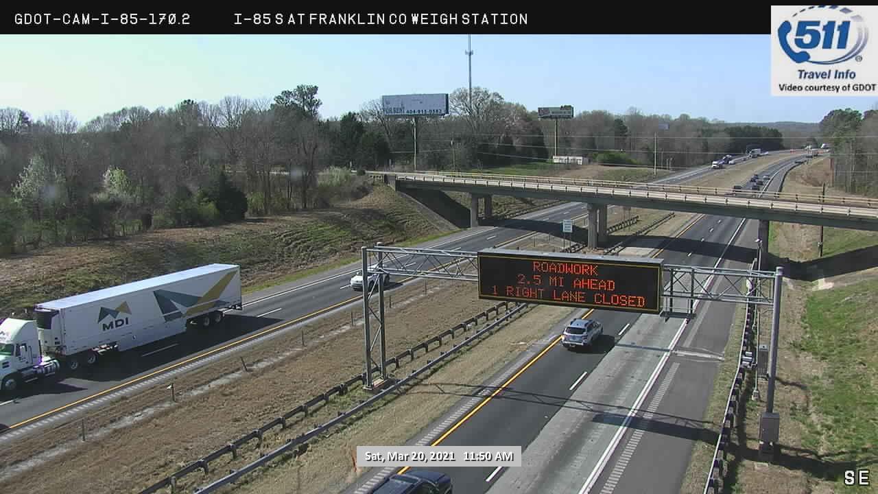 I-85 : FRANKLIN CO WEIGH STATION / CMS 918 (S) (15168) - Atlanta and Georgia