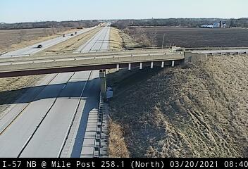 I-57 NB at Mile Post 258.1 - N - USA