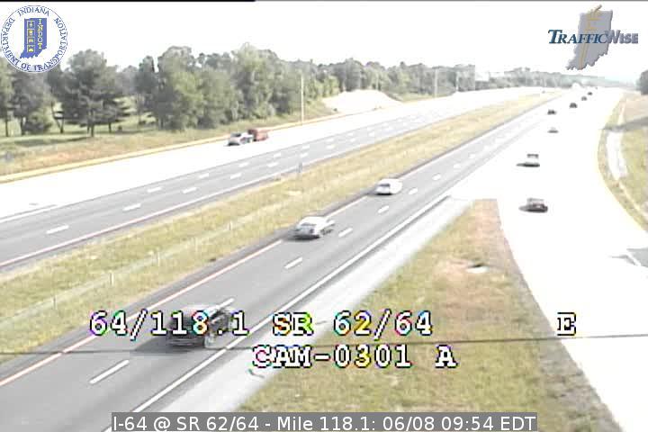 I-64 @ SR 62/64 - Mile 118.1 (3796) (east, west) - Indiana