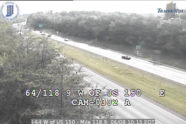 I-64 W of US 150 - Mile 118.9 (3797) (east, west) - Indiana