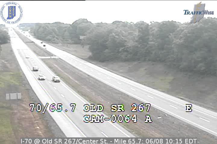 I-70 @ Old SR 267/Center St. - Mile 65.7 (3758) (east, west) - Indiana