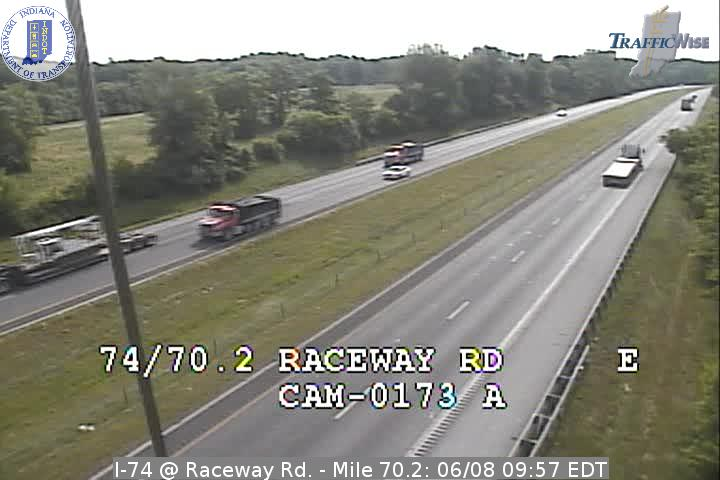 I-74 @ Raceway Rd. - Mile 70.2 (3214) (east, west) - Indiana