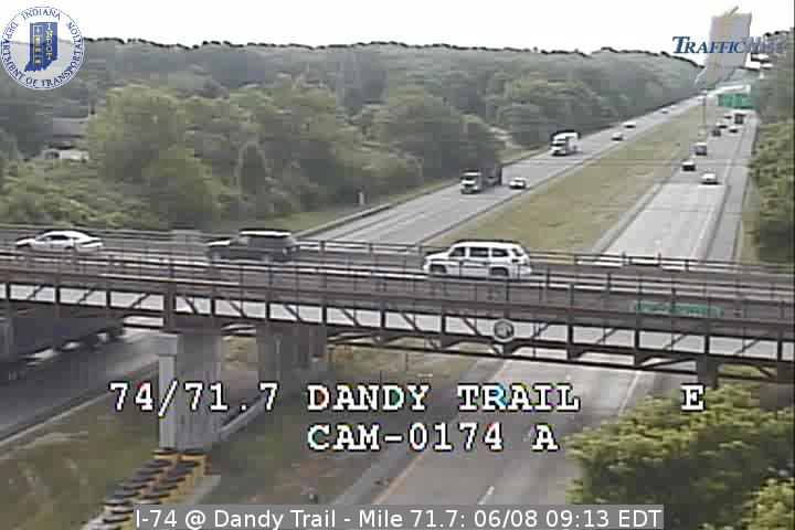 I-74 @ Dandy Trail - Mile 71.7 (3212) (east, west) - Indiana