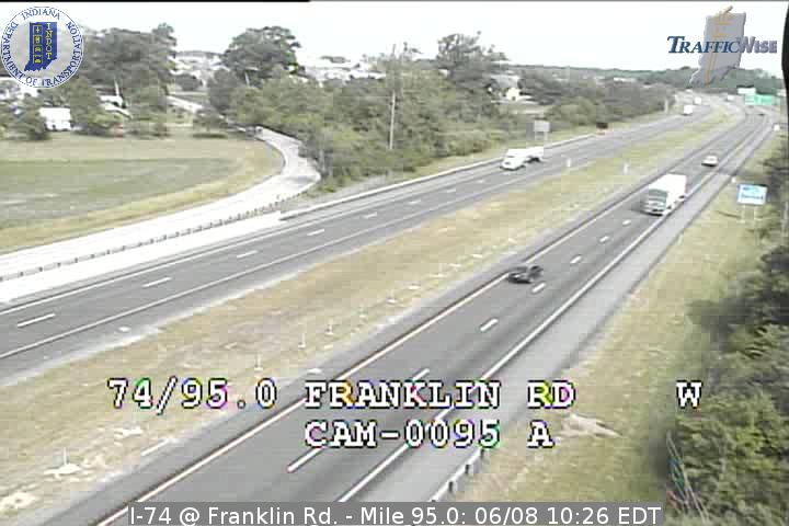 I-74 @ Franklin Rd. - Mile 95.0 (2849) (east, west) - Indiana