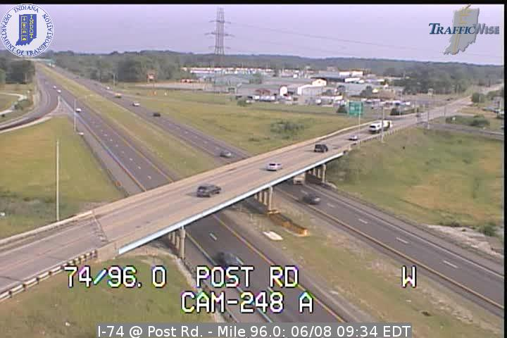 I-74 @ Post Rd. - Mile 96.0 (3139) (east, west) - Indiana