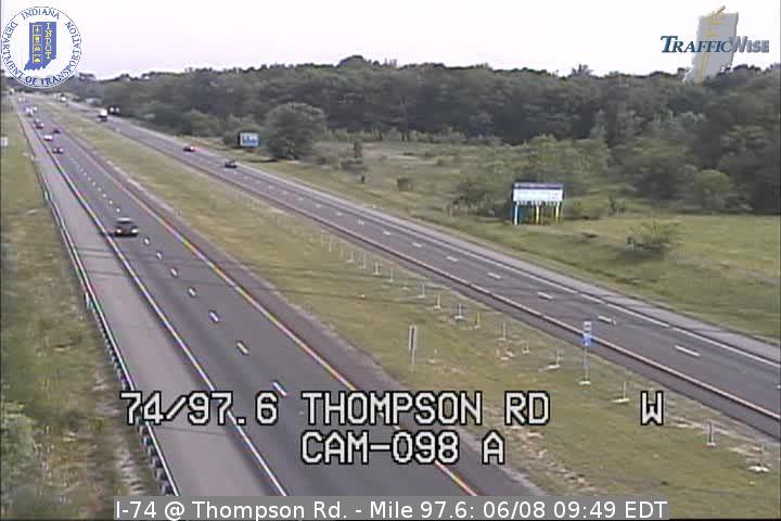 I-74 @ Thompson Rd. - Mile 97.6 (2863) (east, west) - Indiana