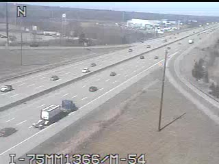 I-75 @ M-54-Traffic closest to camera is traveling North (2025) - USA