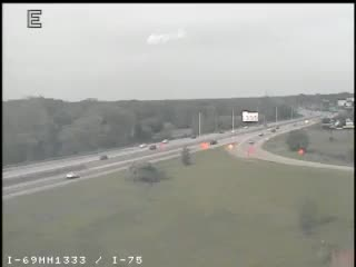 I-69 @ I-75-Traffic closest to camera is traveling East (2158) - USA