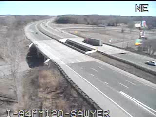 I-94 @ Sawyer-Traffic closest to camera is traveling West (2074) - USA